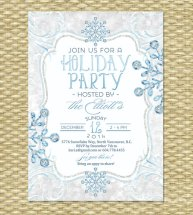 Glitter Ice Printable Holiday Party Invitation - created and sold by SunshinePrintables on Etsy
